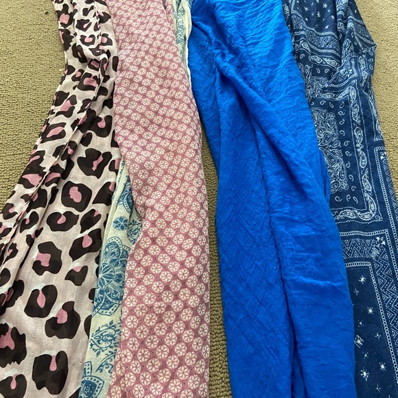 light weight summer scarf / scarves lot all 4